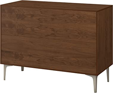 Poppy Credenza - Walnut Sadie Design in 11 Colors & 5 Base Styles - Made in The US - Easy Clean - Mid Century Modern - Da
