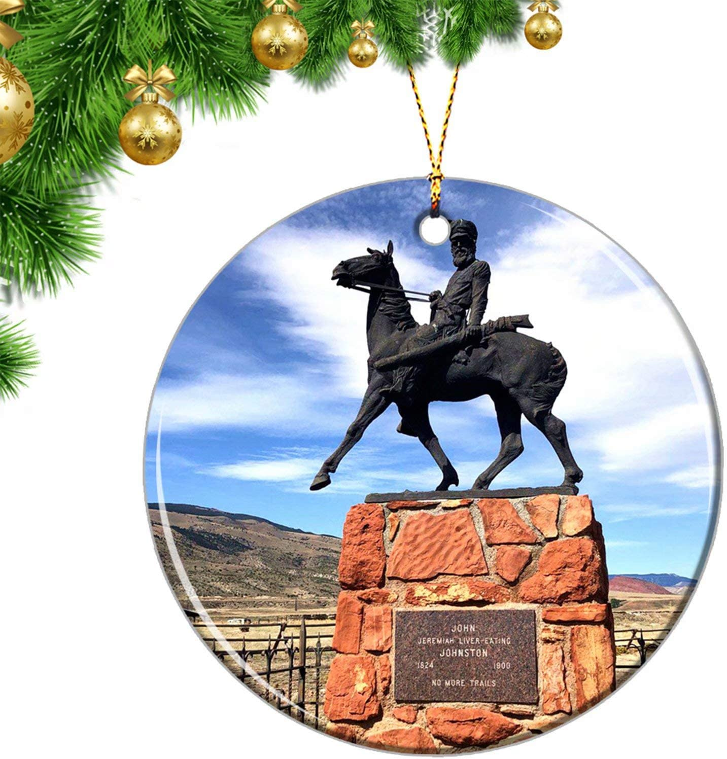 Umsufa Department store USA Cody WY Christmas Old Ornaments Trail W In a popularity Town