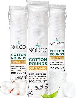 دور پنبه ای ارگانیک سازگار با محصولات آرایشی ، لنت های پاک کننده آرایش چشم و دستمال مرطوب کودک ، کوچک ، 300 عددی - Noleo