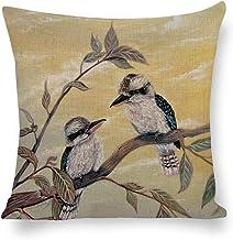 Decorative Cotton Linen Pillow Covers Kookaburra Magic Throw Pillow Case Cushion Cover Home Office Decor,Square 20 X 20 In...