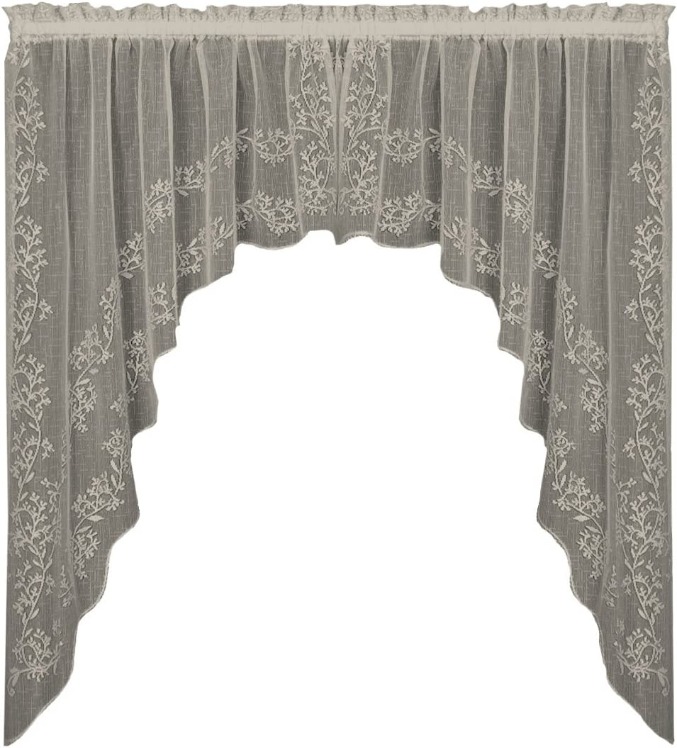 Heritage Lace Sheer Divine OFFicial site Swag Pair by 46-Inch 80 Free Shipping Cheap Bargain Gift White