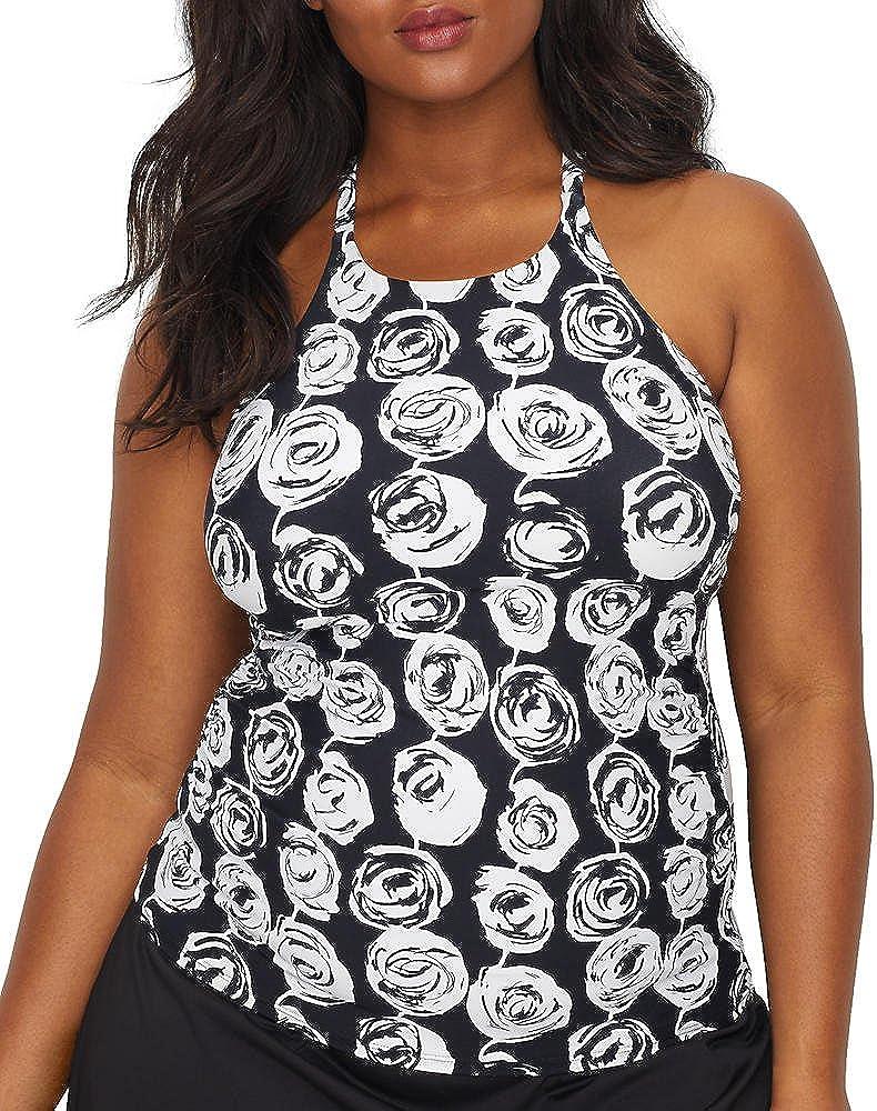 Anne Cole Women's Plus-Size High Neck Tankini Swim Top