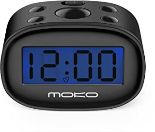 Kids Alarm Clock, MoKo High Accuracy Mini LCD Display Digital Clock Night Light Travel Bedside Alarm Clocks with Snooze Ti...