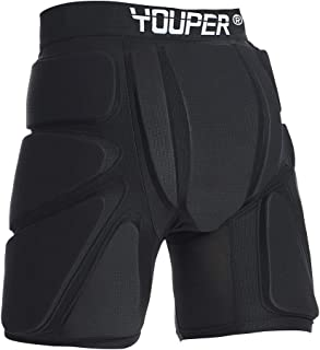 Youper Protective Padded Shorts for Ski, Snowboard, Skate & Roller Sports, 3D Protection for Butt, Hip & Tailbone