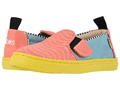 TOMS Kids Luca (Infant/Toddler/Little Kid) (Ballet Pink Wavy Quilted Microsuede) Girl