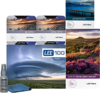 LEE Filters LEE100 77mm Landscape Pro Kit - LEE100 Filter Holder, Lee 100mm Soft Edge Set Graduated ND Filters LEE 100mm Big Stopper and Little Stopper and 77mm Wide Angle Adapter Ring