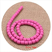 6mm Flat Cylindrical Barrel Beads Handmade Round Polymer Fimo Clay Chip Disk Loose Spacer Beads for DIY Jewelry Making Bracelet,8