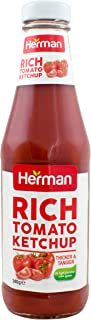 Herman Rich Tomato Ketchup - 340 gm glass (Pack of 1)