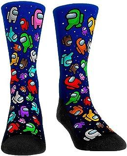 YONSIN Damenoberteile, YONSIN Among Us Calcetines para adultos con diseño de dibujos animados de juegos Calcetines de algodón de Calcetines Divertidos para Mujer, Novedad Bonita, Calcetines de Fantasía