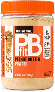 PBfit All-Natural Peanut Butter Powder 15 Ounce, Peanut Butter Powder from Real Roasted Pressed Peanuts, Low in Fat High i...