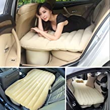 Scb Products Car Inflatable Bed For Rest,Traval, Leisure and Entertainment- Car Back Seat Travel Air Inflation Bed Universal SUV Extended Air Couch with Two Air Pillows, Car Air Pump and Repair Kit