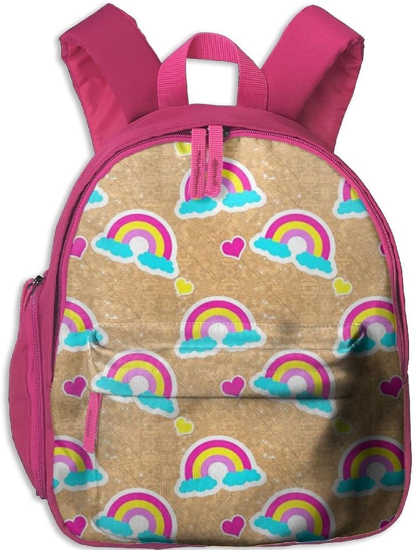 Pinta Beautiful Rainbow Cub Cool School Book Bag Backpacks for Girl's Boy's