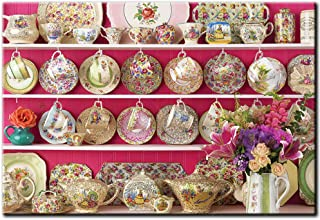 AIIHZ 5D Diamond Painting Round Full Drill Diamond Kits for Adults Kids DIY Teacup -4050cm (15.75in19.69in)(Frameless)