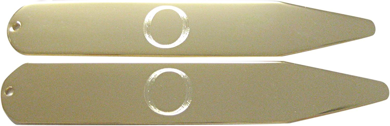 Kiola Designs Gold Toned Etched Letter O Monogram Collar Stays