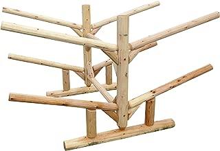 Log Kayak Rack 4-Place