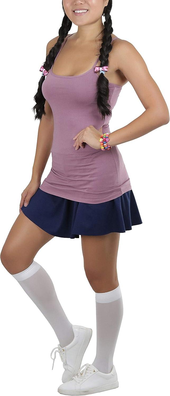 ToBeInStyle Girls Cotton Layering Long Camisole w//Built-in Trining Shelf Bra