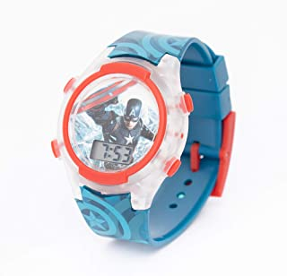 Marvel Captain America Boys Digital Display Flashing LED Wristwatch - SA7175 Avengers-B