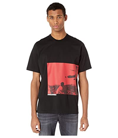 DSQUARED2 Karate Screen Print T-Shirt (Black) Men