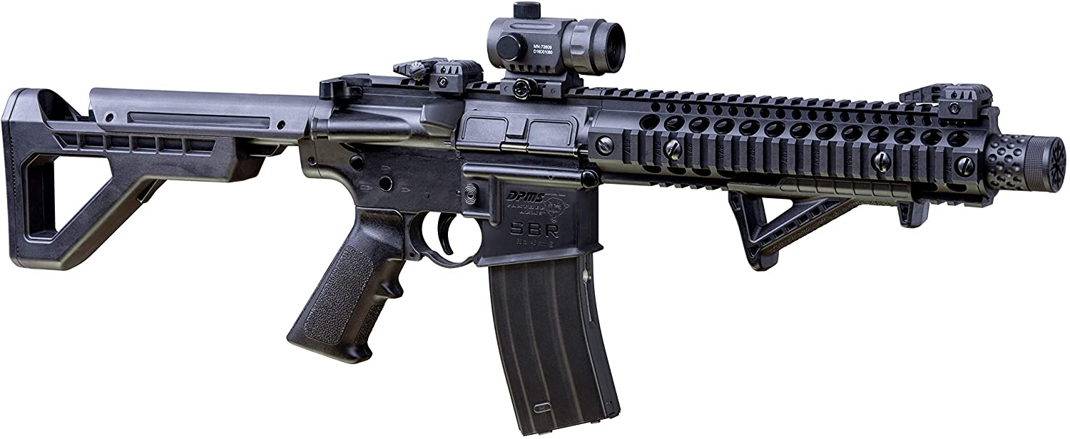 DPMS 送料無料新品 Full Auto SBR CO2-Powered 返品不可 BB Air Cap Action with Rifle Dual