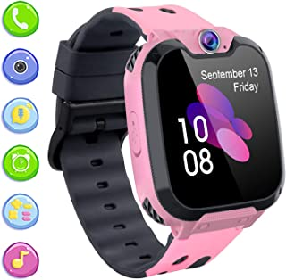 PTHTECHUS Kids Smart Watch Phone for Boys Girls, 1.54 inchesTouch Screen Smartwatch with Music Player Record Games Camera ...
