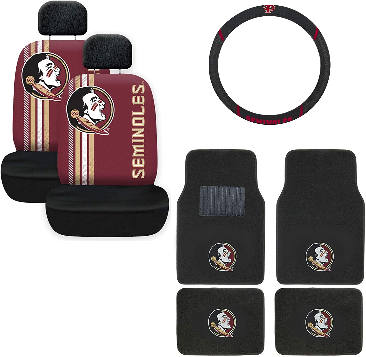AAC Max 57% OFF Florida State Carpet Floor Mat Covers and Wheel Ralley Brand new Seat