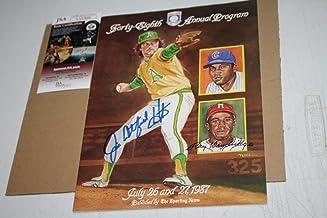 Jim Catfish Autographed Signed 1987 Baseball HOF Induction Program By Huner & Dandridge JSA