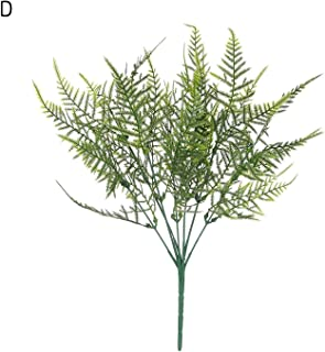 1PC Green Grass Fake Leaf Artificial Plants Plastic Flowers Greenery Foliage Household Wedding Spring Living Room Decor,D