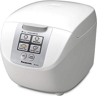 Panasonic  SR-DF181 - Arrocera / Vaporera eléctrica de 1.8 l controlada por microordenador (750W, Fuzzy Logic, 6 programas de cocción preajustados, mantener caliente, compacto) color blanco