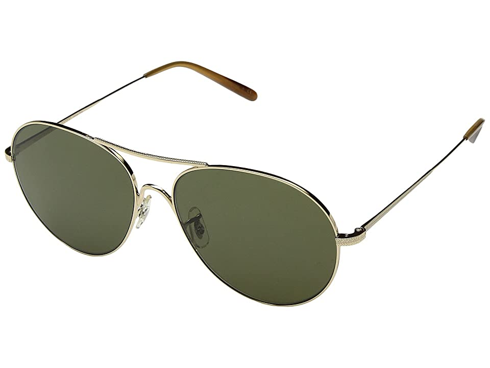 Oliver Peoples Rockmore (Gold/G15) Fashion Sunglasses