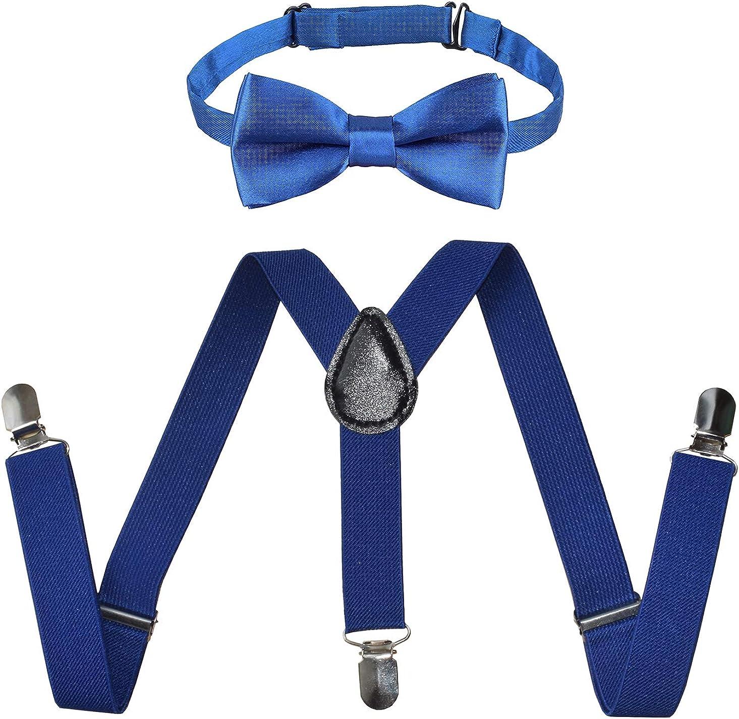 Kids Suspenders Bowtie Sales results No. 1 Set Adjustable Arlington Mall with Tie for Suspender Bow