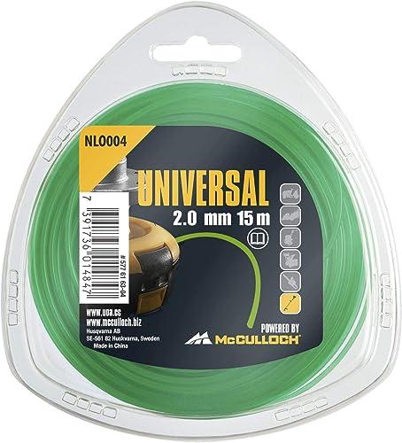Universal 577616304 NLO004 de Repuesto para Recortadora de césped, Longitud 15 m, Hilo Ø 2,0 mm, Nailon Resistente al...