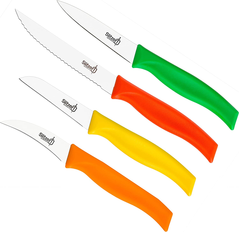 online shop Slitzer Germany 4-Piece Paring Knife Stainless German Steel Portland Mall Set