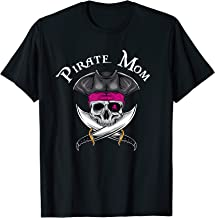 Pink Pirate Mom Jolly Roger Mother's Day Gift T-Shirt
