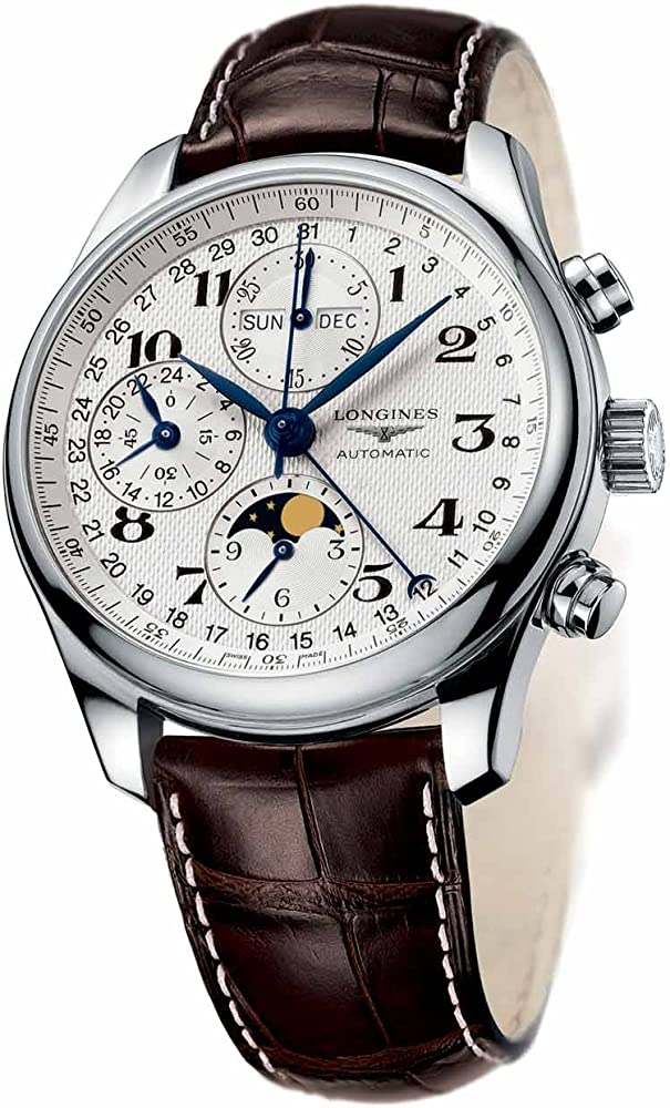 Longines orologio cronografo per uomo con movimento meccanico a carica automatica L2.673.4.78.3