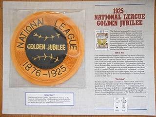 1925 NATIONAL LEAGUE GOLDEN JUBILEE COOPERSTOWN BASEBALL PATCH Willabee & Ward