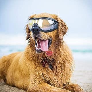 Namsan Dog Goggles - Large Dog Sunglasses Waterproof Sun Rays Protection Adjustable Pet Goggles