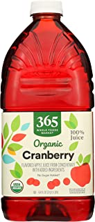 365 by Whole Foods Market, Organic Shelf-Stable Juice, Cranberry (from Concentrate), 64 Fl Oz