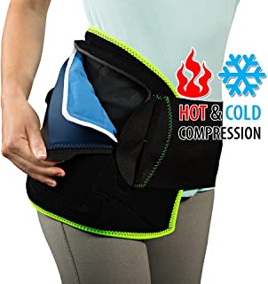NatraCure (Hot or Cold) Hip Pain Relief Wrap - (Small/Medium) - (For Relief from Stiff Hips, Inflammation, and Hip Surgery & Arthritis)
