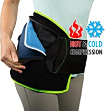 NatraCure (Hot or Cold) Hip and Back Pain Relief Wrap - (Small/Medium) - (for Relief from Stiff Hips & Back, Inflammation, and Hip Surgery & Arthritis)