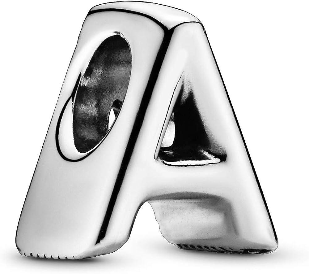 Pandora ,bead charm,ciondolo a forma di a per donna,in argento 797455