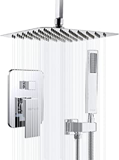 Esnbia Shower System, Ceiling Chrome Shower Faucet Set with High Pressure 10