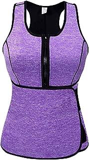Alonsoo Sweat Vest for Women, Neoprene Sauna Waist Trainer Vest for Weight Loss Women