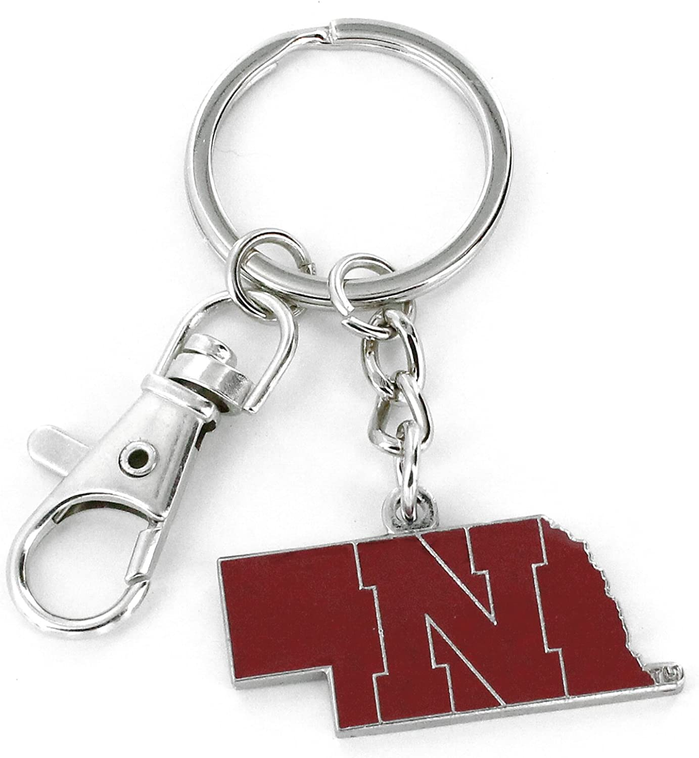NCAA Over item handling ☆ Heavyweight Home State Design price Durab Colorful Keychain - and