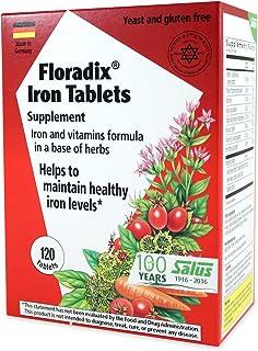 Flora Floradix Iron Tablets, 120 Count