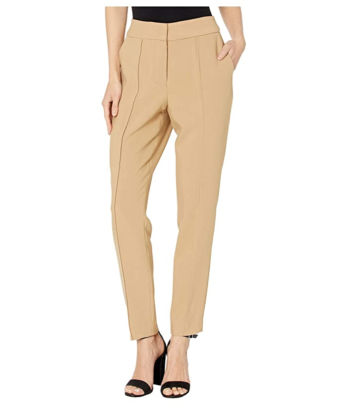 Vince Camuto  Bi-Stretch Crepe Pin Tuck Skinny Pants (Latte) Womens Casual Pants