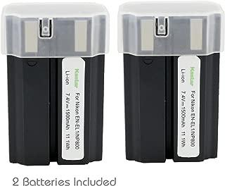 Kastar Replacement Battery (2 Packs) for Nikon EN-EL1 and Nikon Cooipix 4300 Cooipix 4500 Cooipix 4800 Coolpix 5000 Cooipix 5400 Coolpix 5700 Cooipix 8700 Coolpix 775 Coolpix 880 E880 885 995 Camera