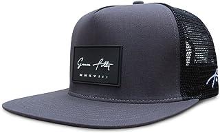 قبعة تراكر من غريس فولي للرجال والنساء. قبعات شبكية بشريط سناب خلفي
