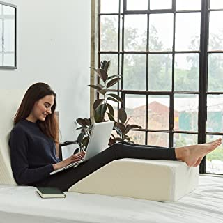 Brentwood Home Zuma Elevating Leg Rest Pillow - Certified Foam - Supportive Sleep Wedge - Best Leg Wedge for Back Pain and...