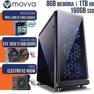 COMPUTADOR GAMER MVX5 INTEL I5 7400 3.0GHZ 7ª GER. MEM. 8GB HD 1TB SSD 160GB HDMI GTX 1050TI 4GB DDR5 128BITS FONTE 400W - MOVVA