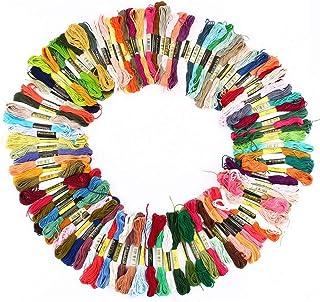 Linha do Bordado 100 x Novelos Coloridos Sortidos por Flissy